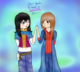 Gift for you~ Awesome Sis~! by Llina-Arcfire