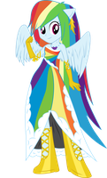 Rainbow Dash in Gala Dress (Vectored) by RuinedOmega
