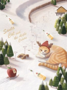 Santa Cat n the Apple Ciders by yuchunho