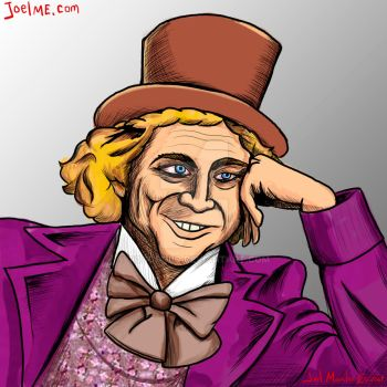Gene Wilder as Willy Wonka by toocoolo