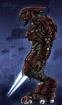 Halo 4 Sangheili Officer by Guyver89