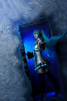 Hatsune Miku cosplay by Bizarre-Deer