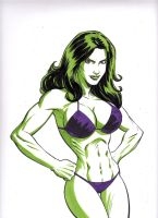 She-Hulk in Bikini by Scott Dalrymple by GordonWildhurst