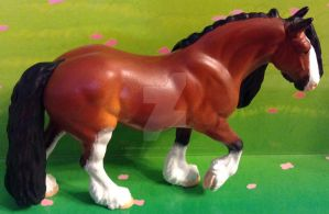 Bay Clydesdale Draft Resin by ElkStarRanchArtwork