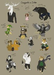 Creepypastas as Zootopia by Lynnarty