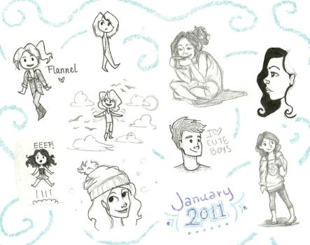 January Doodles by BrennaBee