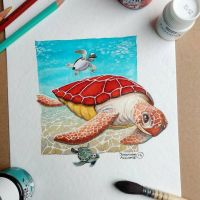 Sea Turtle by tonton-jojo