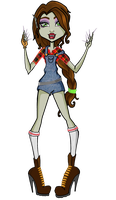 Monster High OC: Wendy Whitiko by holhez21
