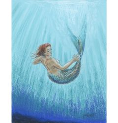 Mermaid dive and turn by mozer1a0x