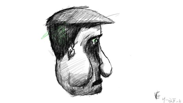 Man with hat by ErnestVentures