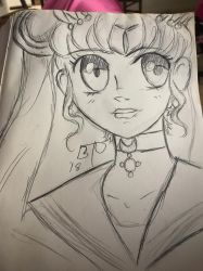 DD: quick sketch - Sailor Moon  by Imbriaart