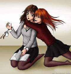 Hermione and Ginny by TeraMaster