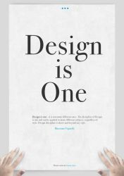 Design is One: Main by xanthousis