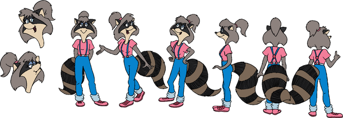 Lisa Raccoon Expressions and Turnaround by cheril59