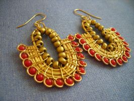 Egyptian Earrings by pikabee