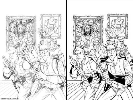 Ghostbuster alternative cover Pencil-ink by A-Muriel
