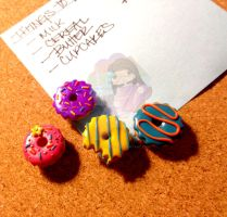 Fun Donut Tacks by colourful-blossom