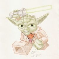 Lego Yoda by Crystal-Cat