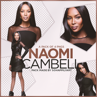 Naomi Cambell PNG Pack 006 by sohappilyart