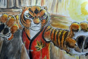 Tigress painting by Hukkis