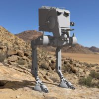 AT-ST In a Desert by VanishingPointInc