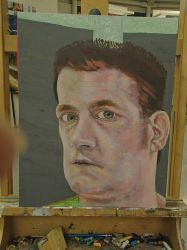 Self Portrait Competition Painting WiP5 by JohnMKimmins