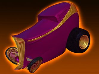 Stylized 32' Ford Highboy Hot Rod 3D by dragondragon