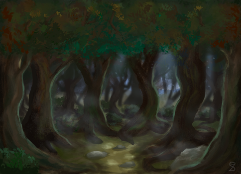 Haunted forest by sophie-sz
