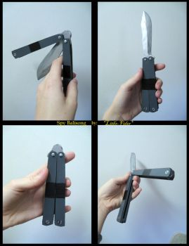 Spy Balisong 1.0 by Lithe-Fider