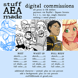 Digital Commissions - 2018 Rates by stuffaeamade