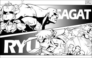 Sagat VS Ryu by dymartgd