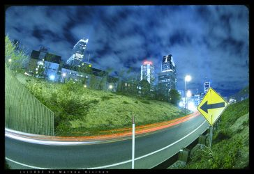 Montreal at Night by agtronic