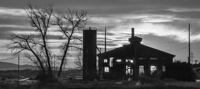 Abandoned Power Station At Twilight by fredfirth