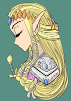 Zelda colored by Foltzy