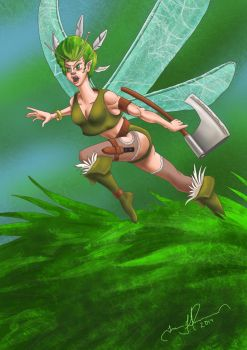 Fairy Warrior by tadamson