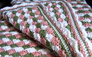 Victorian Rose Crocheted Baby Blanket by celticbard76