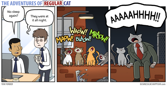 The Adventures of Regular Cat - Restless by tomfonder
