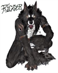 Rigger. Werewolf Form (Colour) by LanzTheDestroyer