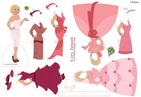 Charlotte Paper Doll by Cor104