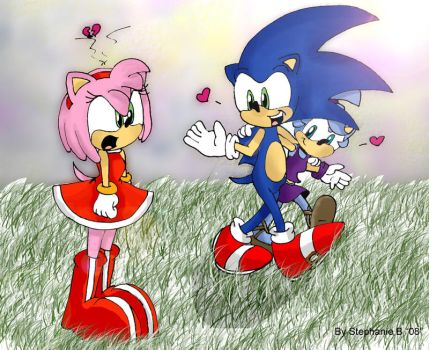 Amy finds out Sonic's Love by nickgurlpa