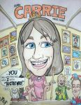Caricature of my friend Carrie Dahlby by artbylukeski
