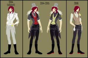 Evolution of Jason's clothes by Krisantyl