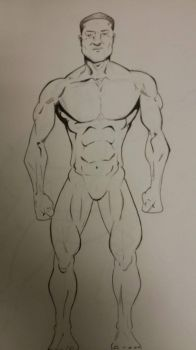 Anatomy sketch by FarosGFX