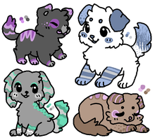 Pastel Puppy Adopts! [3/4 Open!] by Dawnpath