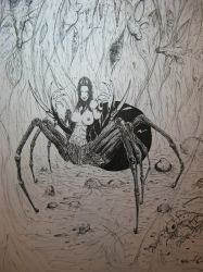 Spider Lady by JennerCarnelian