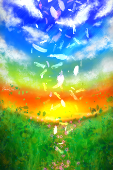 iphone4s wallpaper use procreate-2(day) by rainrei