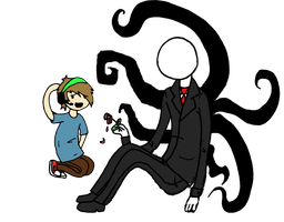 Pewdie and Slendy by Dragon-Flash