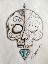 Geometric / DoD skull finished by CrYpToZ
