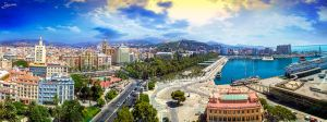 Malaga from the ferris wheel by JuanChaves