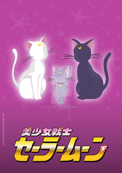 Luna, Artemis and Diana by Grookere